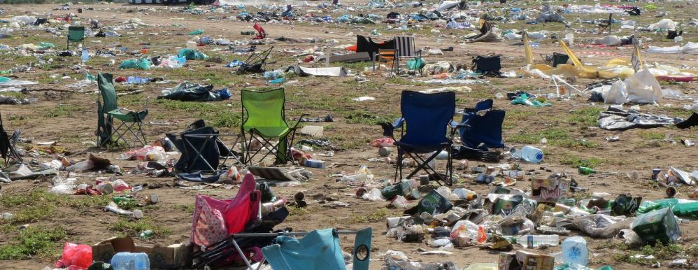 Festivalgangers moeten extra betalen vanwege hun afval